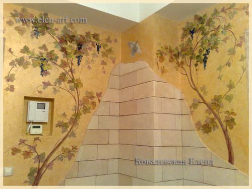 Приемы в росписи стен